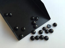 10 Pcs Lot Natural BLACK ONYX 10x10 mm Round Cabochon Loose Gemstone A50