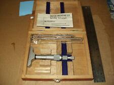 Fowler 52 225 005 Depth Gage Micrometer Range 0 3 Gradu 001 With Two Extension