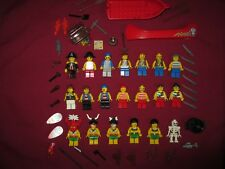 LEGO NATIVES,ISLANDERS,PIRATES   Minifigures Lot. 20 Figures  Weapons ETC