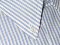 $730 NWT TOM FORD WHITE & BLUE BENGAL STRIPE HAND MADE DRESS SHIRT EU 43 17