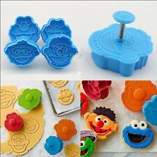 3D Cute Fondant Cookie Cutter Biscuit Hand Stamp Press Plunger Mould 4pcs