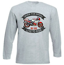 YAHAMA RD 500 - GREY LONG SLEEVED TSHIRT- ALL SIZES IN STOCK