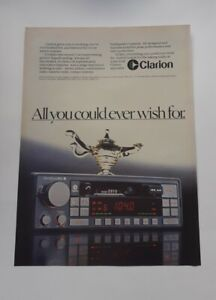 Original Advert - Clarion Stereo Radio Cassette Advert from 1984 - Advertisement