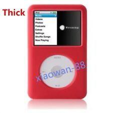 Red Silicone Skin Cover Case for iPod Video 5th 5.5th 80GB Classic THICK Model