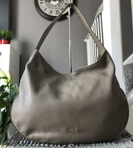 Beautiful genuine Furla Pebbled Leather Shoulder Bag , Hobo Bag, handbag