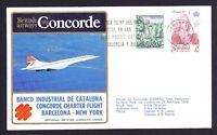 1979 Barcelona to New York British Airways Concorde Cover FFC First Flight Spain