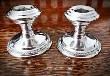 Vintage N.S. Company Sterling Silver Weighted Candle Holders (2)