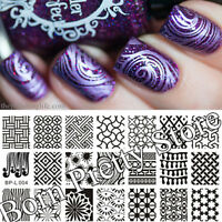 Nail Art Stamp Template Kaleidoscope Image Plate BORN PRETTY L004 12.5 x 6.5cm