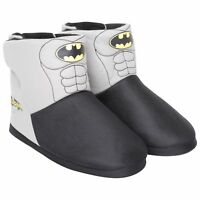 Mens / Boys Batman Novelty Slipper Boots Comfy Bootee Kids 1-6 Adults Sizes 7-12