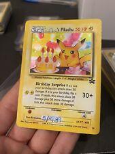Birthday Pikachu HOLO RARE #24 Black Star PROMO Pokemon Cards