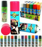 NEW GLITTER FLUORESCENT TEMPORARY HAIR COLOUR SPRAY HALLOWEEN PARTY EVENTS