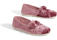 TOMS Faded Rose Velvet Bow Women's Classics Shoes. Style: 10011313