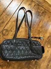 womens handbags and purses/Brighton Black Leather Satchel Purse