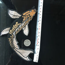 """17CM 7"""" Wild Fish Koi Carp Patch Embroidered Iron On Applique Sewing Craft DIY"""