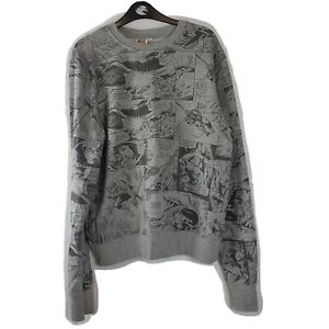 Genuine SPIDER-MAN MARVEL COMICS Medium Grey Long Sleeve Jumper Sweater Pullover