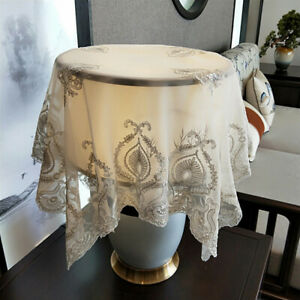 """32""""x32"""" Vintage Lamp Shades Cover Lace Embroidery Fabric Home Lamp Decoration"""