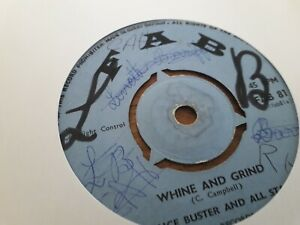 """Prince Buster , Whine And Grind, Scorcher , 7 """" Fab"""