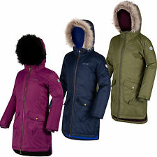 Regatta Hollybank Girls Parka Lightly Insulated Waterproof Coat