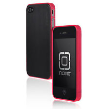 Incipio Le Deux Metal Effect Case/Cover For iPhone 4/4S - Black Back/Pink Bumper