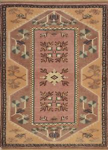 Vintage Turkish Milas Rug, 3'x4', Pink/Beige, Hand-Knotted Wool Pile
