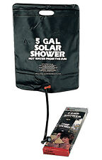 Black 5 Gallon Solar Powered Camp Hot Shower Camping Hiking Rothco 540