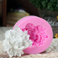 1Pc Silicone Rose Flower Cake Fondant Mould Mold Wedding Sugarcraft Cupcake Q7U5