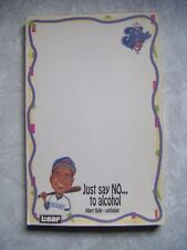 1990's Cleveland Indians The Tribe Player Just Say No Notepad Unused 45 Pages
