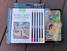 CRAYOLA 68-2005  Signature 50 Ct. Blend Shade Colored Pencils NEW SEALED