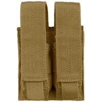 Condor Combat Tactical Double Pistol Range Mag Pouch MOLLE Pocket Coyote Brown