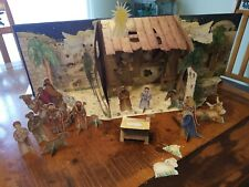 The First Christmas Pop Up Book With lights and music Playable Characters EUC