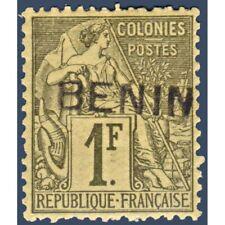 BENIN N°_13 TYPE ALPHÉE DUBOIS SURCHARGÉ, TIMBRE NEUF* 1892