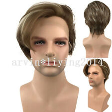 Men Synthetic Lace Front Wig Brown Wigs for Man Real Natural straight Full Hair