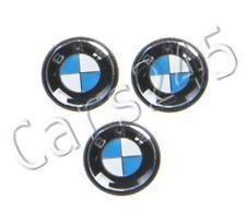 Genuine BMW E46 Cabrio Compact Coupe Key Emblems x3 11mm 3pcs OEM 66122155753