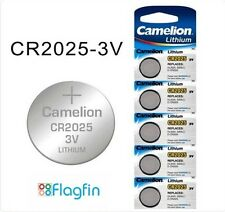 DL2025 CR2025 5003LC Coin Cell Battery 3V Lithium Camelion Brand Exp 2024 x 5pcs