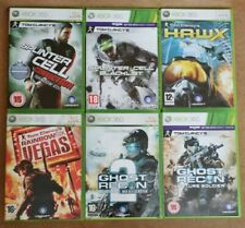 Xbox 360 Tom Clancy's Game Bundle Splinter Cell, Hawx, Ghost Recon, Six Vegas x6