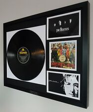 Sgt Pepper's The Beatles Framed Vinyl Album John Lennon Paul McCartney Ringo