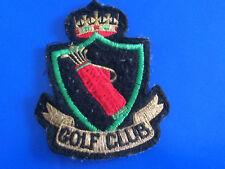 "#2635# Joli écusson Tissu patch ""GOLF CLUB"" 93 mm x 67 mm"