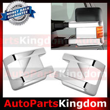 08-16 Ford Super Duty with Turn Light Signal Triple Chrome LOWER Mirror Cover