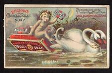 BUCHAN'S CARBOLIC TOILET SOAP*CHERUB*SWANS*CURES ALL ERUPTIONS ON THE SKIN!