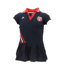 New York Red Bulls Official MLS Adidas Youth Kids Girls Size Polo Dress New Tags