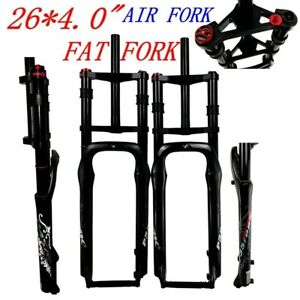 """Double Shoulder Fat Bicycle 26"""" 4.0"""" Air Fork Snow MTB Moutain 26inch Bike Forks"""