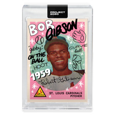 Topps PROJECT 2020 Card #46  Bob Gibson by Sophia Chang! Print Run 1,268 w/ box