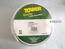 """Torre De Cable Coaxial Digital Satélite con 2 X conectores tipo """"F"""" 20M Blanco"""