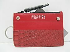 Kenneth Cole NWT $68 Reaction RFID Key Coin Purse Baked Apple Snake Skin Pattern