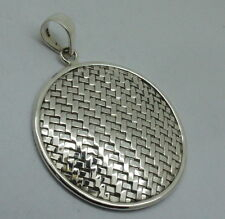 UNIQUE Handmade Designer 925 Solid Sterling Silver ROUND Pendant - 9.97 Gms #H9