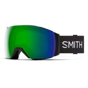 Smith I/O MAG XL Goggles Black ChromaPop Sun Green Mirror+Bonus