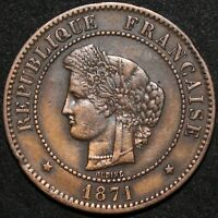 1871 A | France 5 Centimes | Bronze | Coins | KM Coins