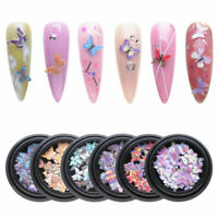 Butterfly Nail Sequins 3D Art Holographic Laser Glitter Flakes Nail Decoration