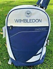 Babolat Classic Club Wimbledon Tennis Backpack Bag Blue White Beige Nwt 753057