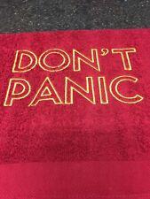 Don't Panic HHGTTG Towel with FREE ARM FLASH,  Towel day